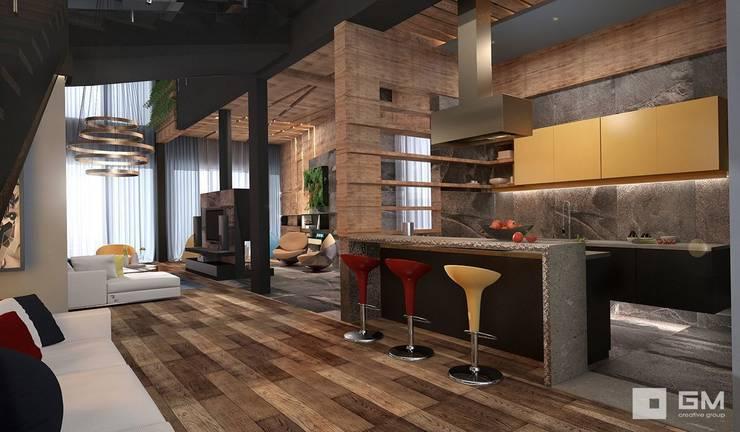 Дом по Рублево-Успенскому шоссе : Кухни в . Автор – GM-interior