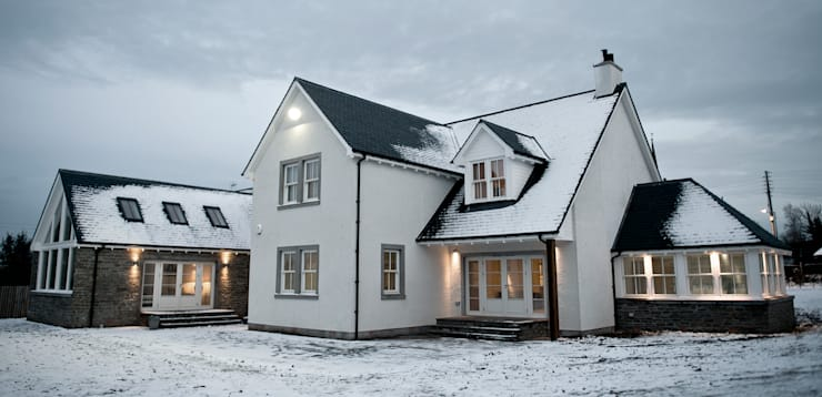 Snowdrop Lodge, Beach Road, St. Cyrus, Aberdeenshire:  Houses by Roundhouse Architecture Ltd