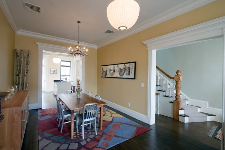 Greenwood Heights Townhouse:  Dining room by Ben Herzog Architect