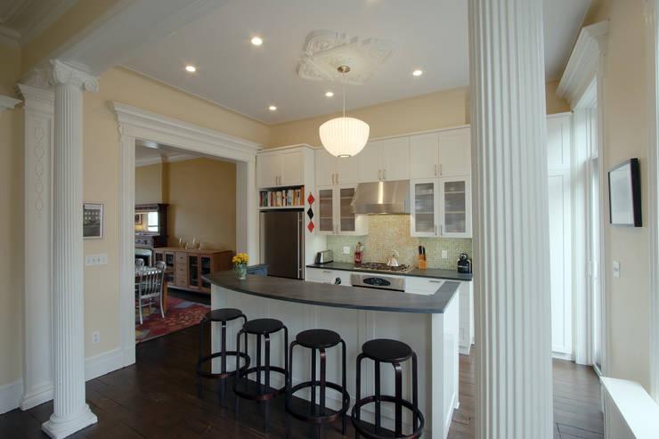 Greenwood Heights Townhouse:  Kitchen by Ben Herzog Architect