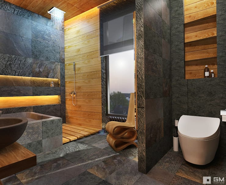 eclectic Bathroom by GM-interior