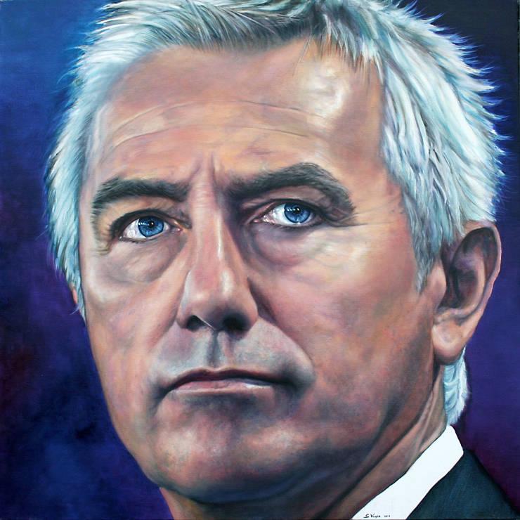 Olieverfportret Bert van Marwijk:  Kunst  door Saskia Vugts Portretschilder
