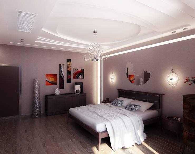 Спальня в стиле артдеко.: Спальная комната  в . Автор – Design studio of Stanislav Orekhov. ARCHITECTURE / INTERIOR DESIGN / VISUALIZATION.
