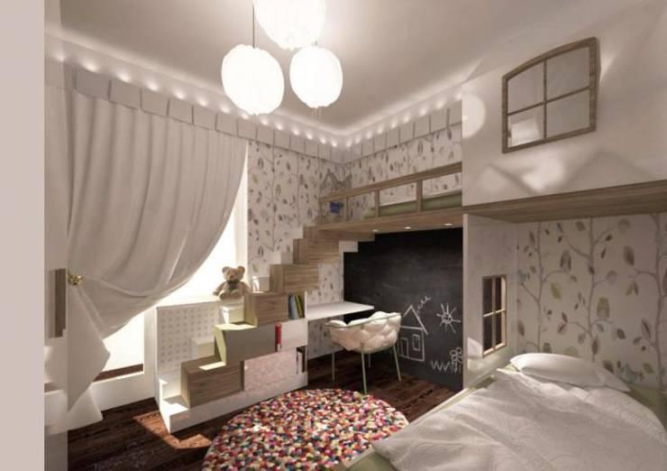 Dormitorios infantiles  de estilo  por Архитектурное бюро 'Золотые головы'
