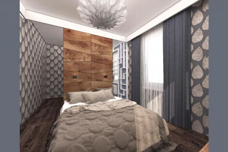 Dormitorios de estilo  por Архитектурное бюро 'Золотые головы'