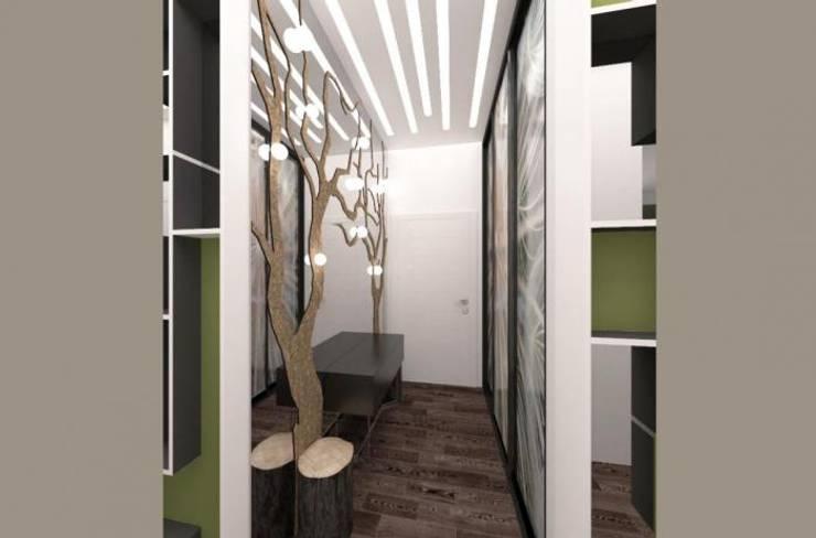 """Квартира в ЖК """"Микрогород в лесу"""": Гардеробная в . Автор – Архитектурное бюро 'Золотые головы'"""