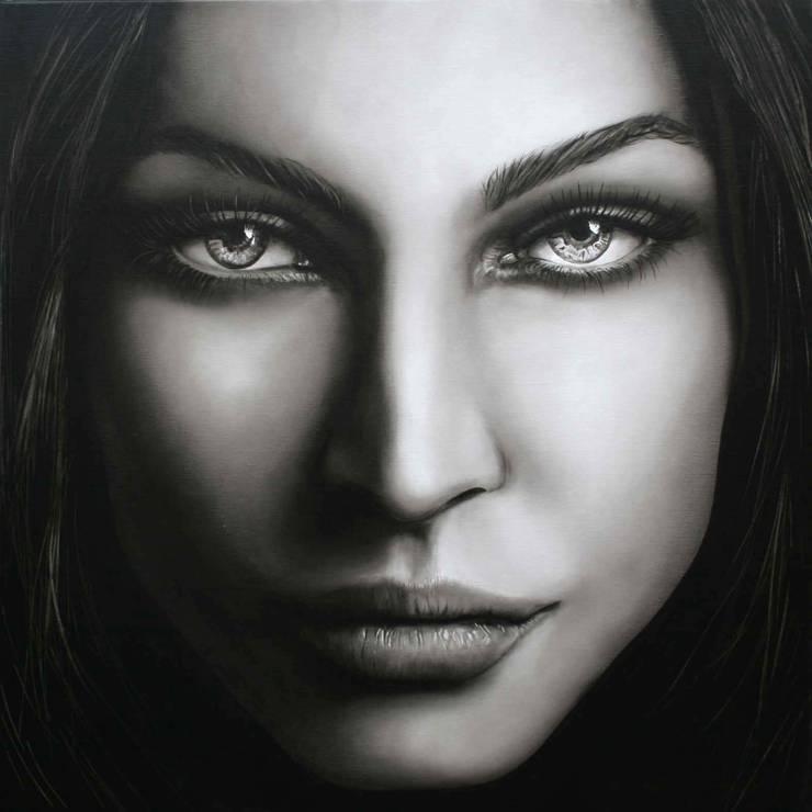 Olieverfportret Megan Fox:  Kunst  door Saskia Vugts Portretschilder