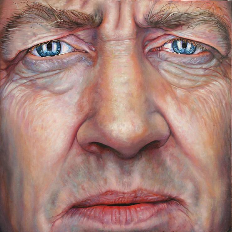 Olieverfportret van David Lynch:  Kunst  door Saskia Vugts Portretschilder