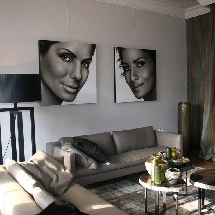 Olieverfportretten van Actrices:  Kunst  door Saskia Vugts Portretschilder