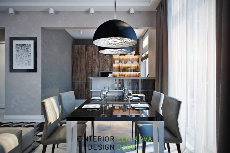 Столовая зона: Столовые комнаты в . Автор – Студия архитектуры и дизайна Дарьи Ельниковой