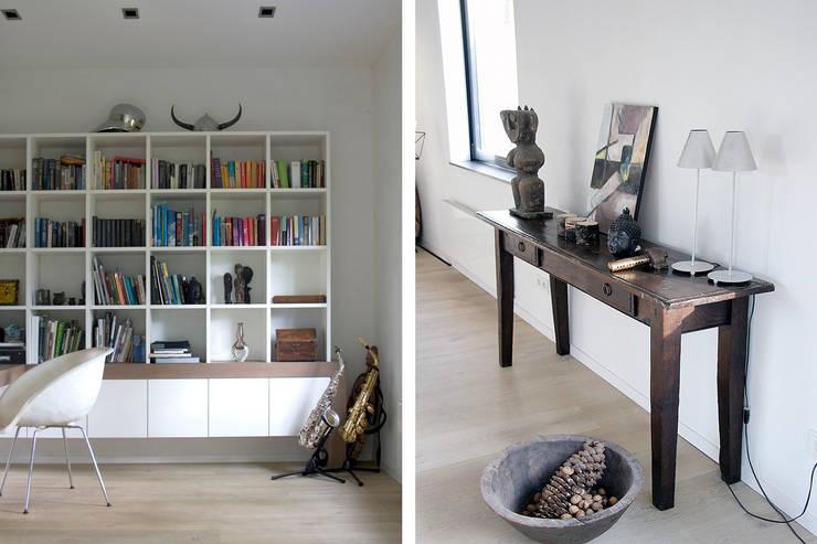 Villa Vught: moderne Studeerkamer/kantoor door Doreth Eijkens | Interieur Architectuur