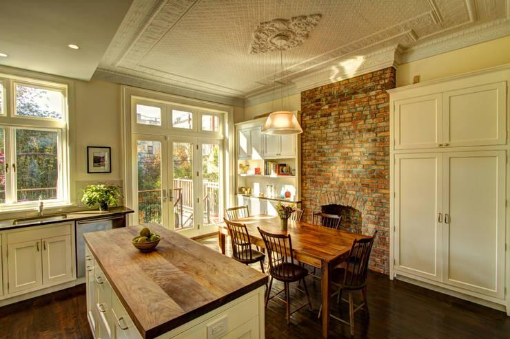 Park Slope Brownstone:  Kitchen by Ben Herzog Architect