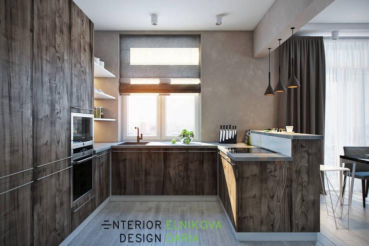 Кухня: Кухни в . Автор – Студия архитектуры и дизайна Дарьи Ельниковой