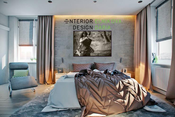 Спальня молодой пары: Спальни в . Автор – Студия архитектуры и дизайна Дарьи Ельниковой