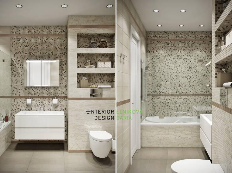 ванная совмещенная с санузлом: Ванные комнаты в . Автор – Студия архитектуры и дизайна Дарьи Ельниковой