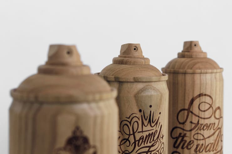 Wooden spray cans,:  Living room by Zics design