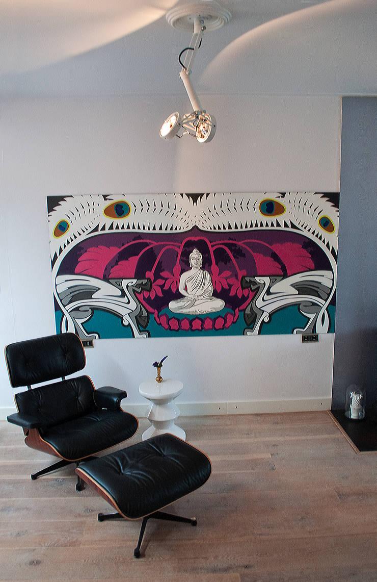 kleur:  Woonkamer door IJzersterk interieurontwerp