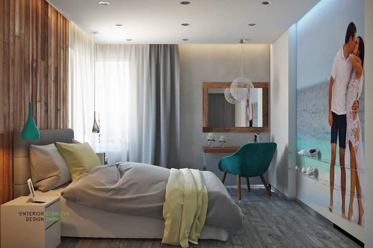 Спальня с легким бризом: Спальни в . Автор – Студия архитектуры и дизайна Дарьи Ельниковой, Средиземноморский