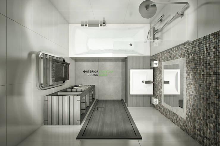 Modern bathroom by Студия архитектуры и дизайна Дарьи Ельниковой Modern