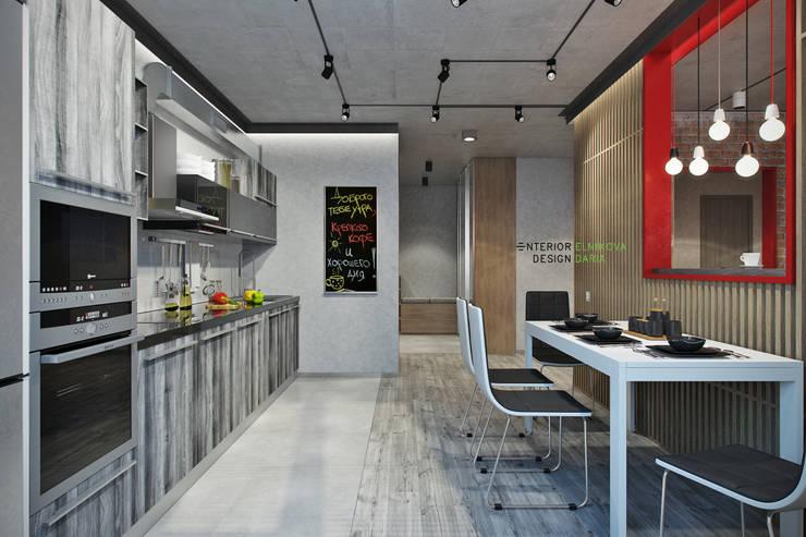 Кухня: Кухни в . Автор – Студия архитектуры и дизайна Дарьи Ельниковой, Лофт