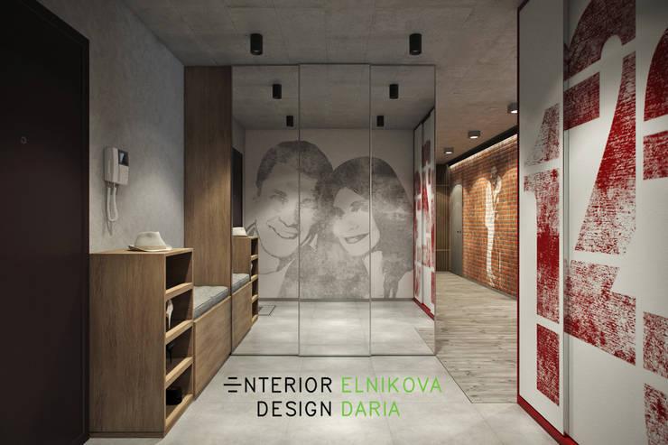 Квартира 95 кв.м. в стиле лофт: Коридор и прихожая в . Автор – Студия архитектуры и дизайна Дарьи Ельниковой, Лофт
