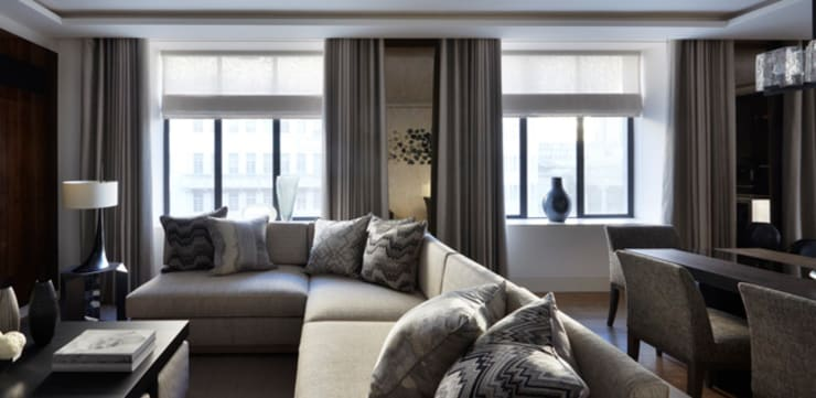 Lateral Apartment, Regents Park:  Living room by Helen Green Design