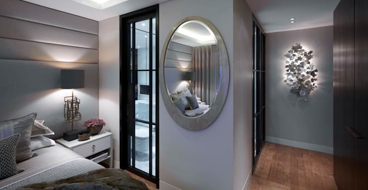 Lateral Apartment, Regents Park:  Bedroom by Helen Green Design