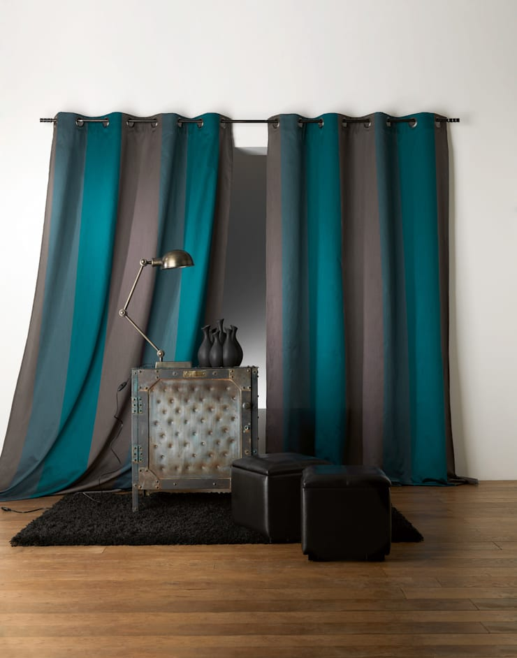 Rideaux prêts à poser>Chic>Bicolors>BERGAME: Maison de style  par So Textil