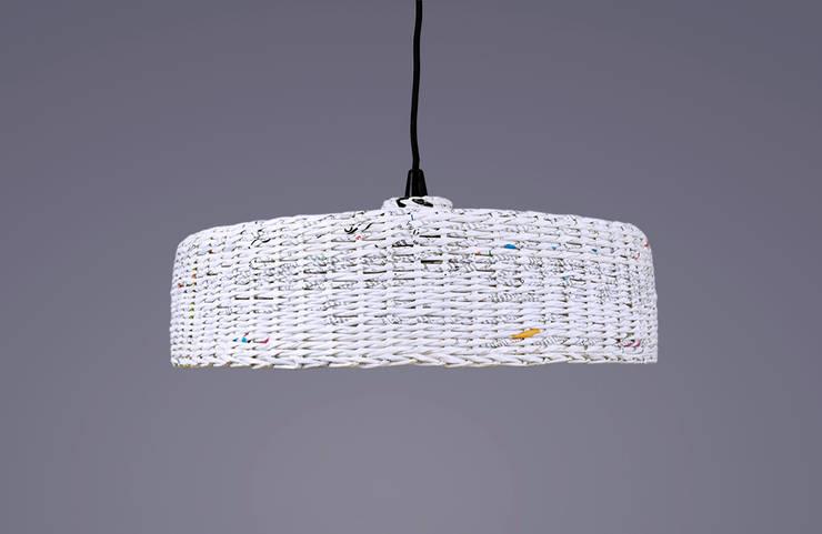 Lampa Hoc: styl , w kategorii  zaprojektowany przez Barbórka Design,Industrialny Papier