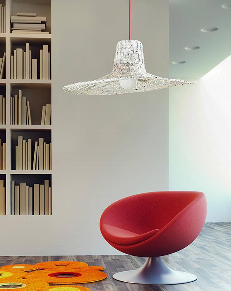 Lampa Misia: styl , w kategorii Salon zaprojektowany przez Barbórka Design