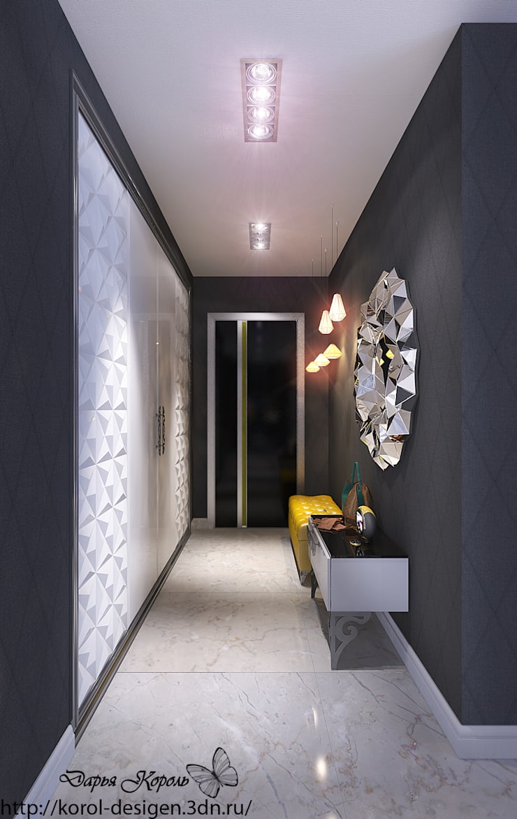 studio room for hotel Dubai United Arab Emirates: Коридор и прихожая в . Автор – Your royal design,