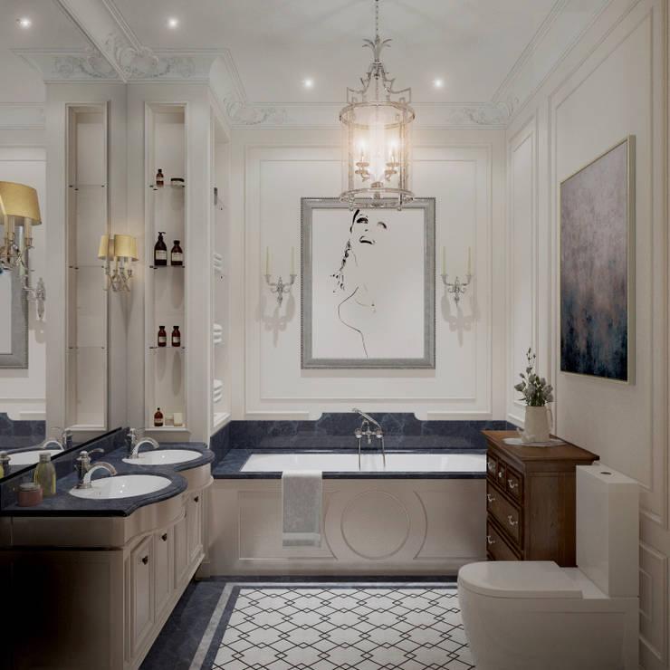 Квартира в классическом стиле: Ванные комнаты в . Автор – COUTURE INTERIORS