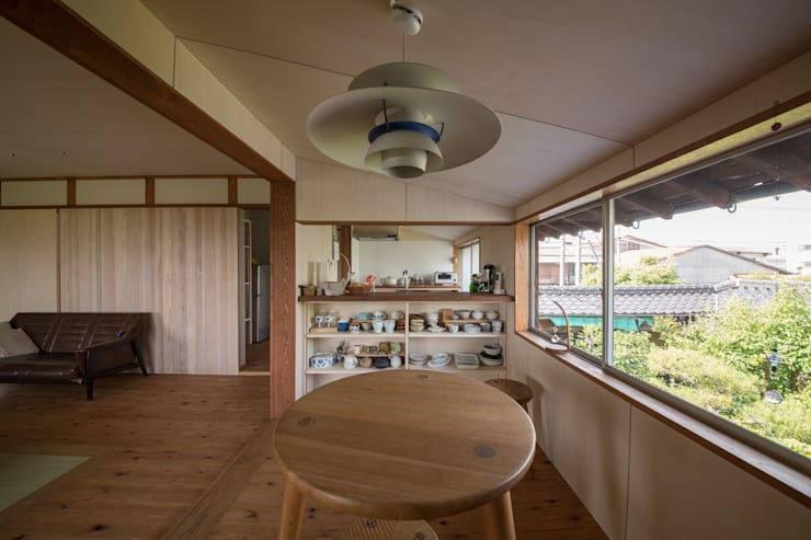 House Ookimati: エコリコデザイン一級建築士事務所が手掛けたダイニングです。
