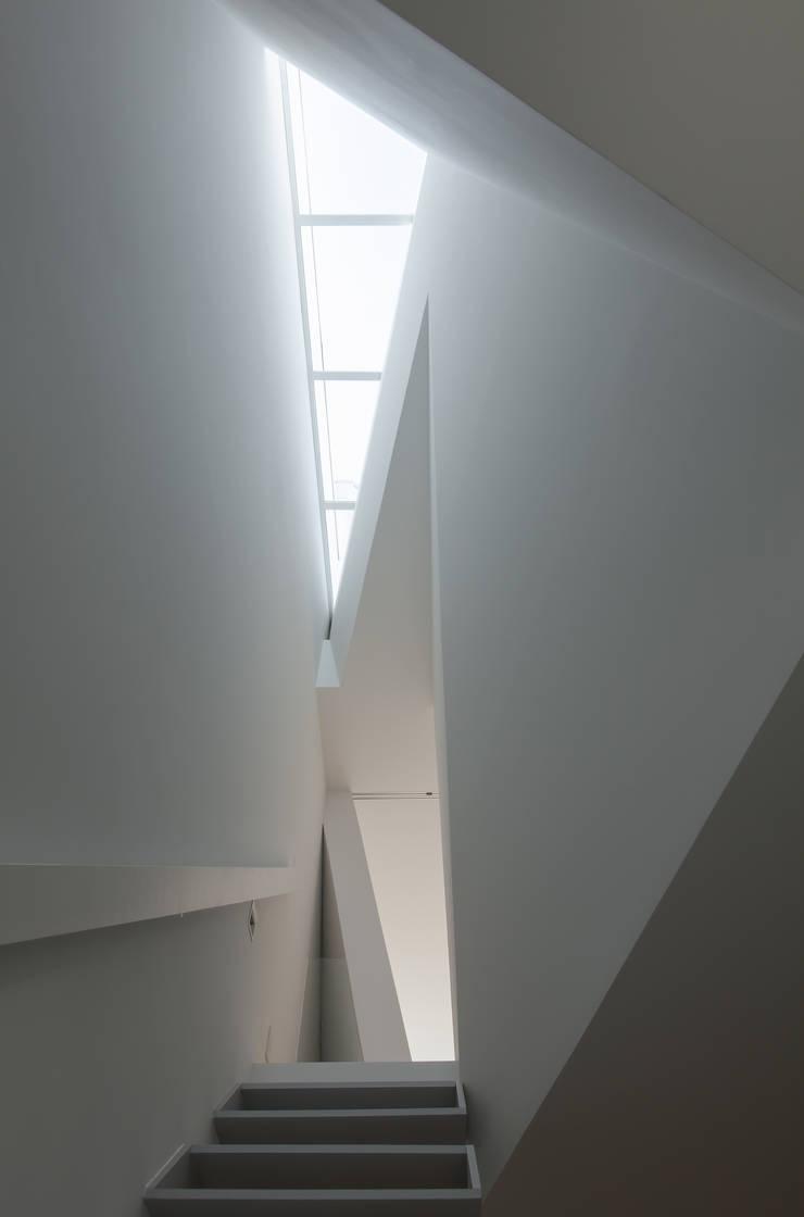 2〜3階階段上部トップライト: 井戸健治建築研究所 / Ido, Kenji Architectural Studioが手掛けた廊下 & 玄関です。