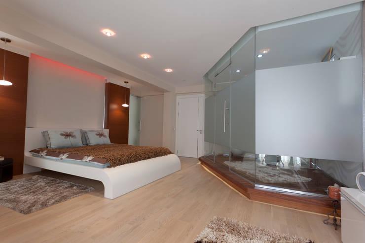 غرفة الملابس تنفيذ Mimkare İçmimarlık Ltd. Şti.