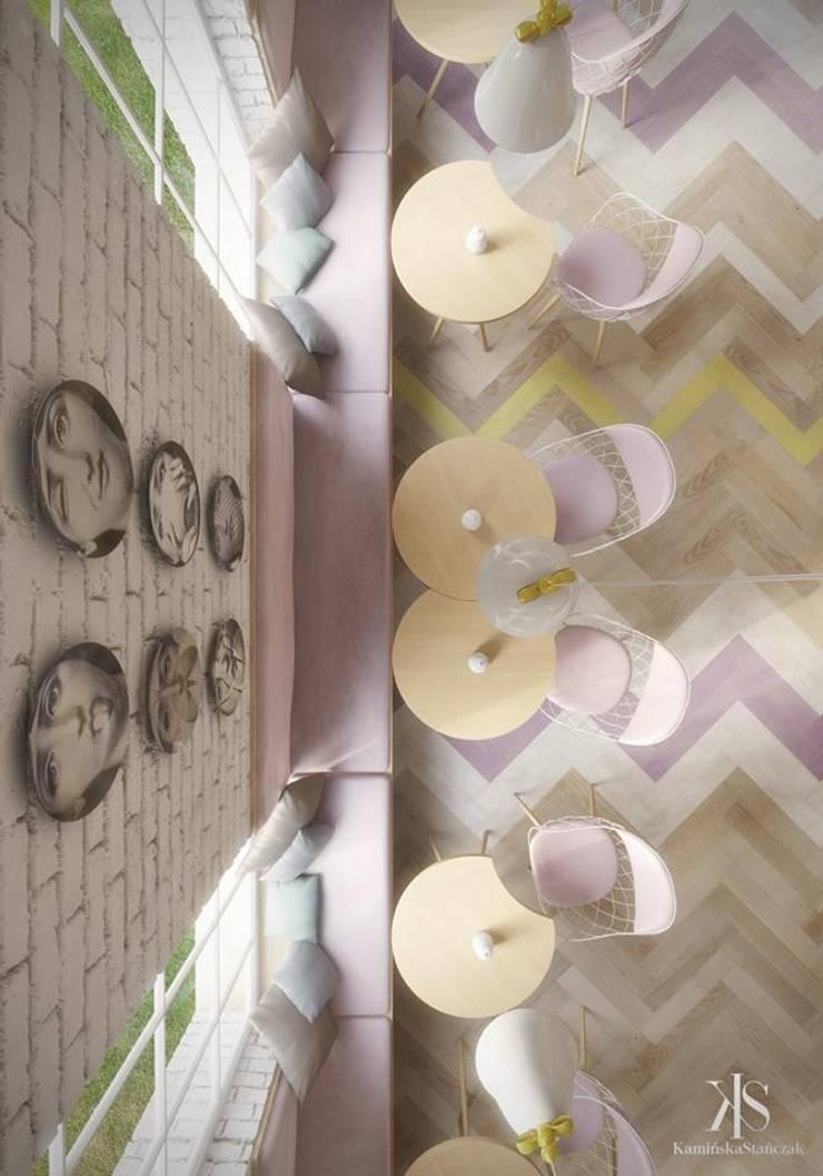 Kawiarnia w spichlerzu: styl , w kategorii Gastronomia zaprojektowany przez Kamińska Stańczak,