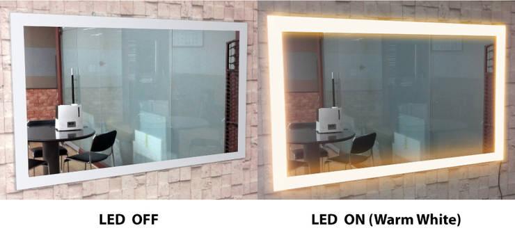 벽걸이형 4면 LED - 전구색: 주식회사 에이티옵트로닉스 (AT Optronics Corporation)의  벽 & 바닥