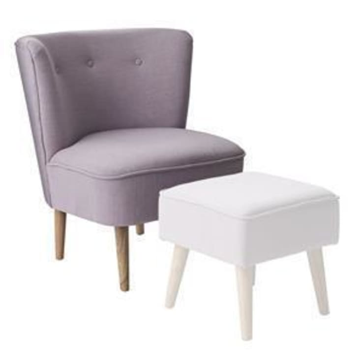 Chair, Rose Upholstery with Rubberwood :  Living room by Bloomingville
