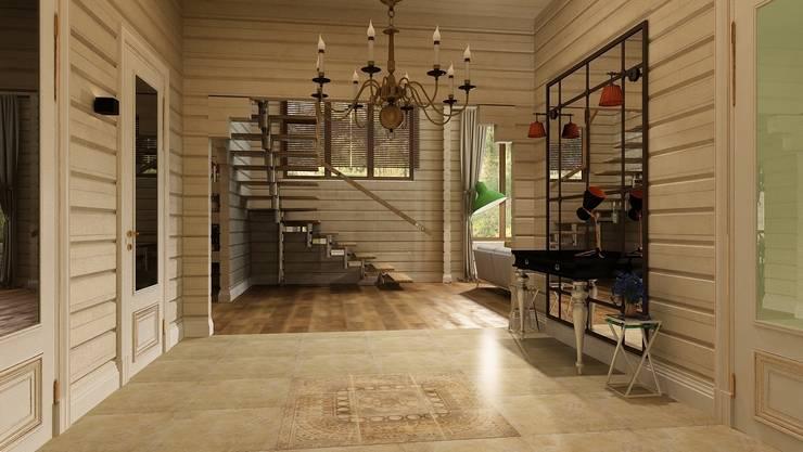 Дизайн проект загородного дома п. Бурцево: Коридор и прихожая в . Автор – Apolonov Interiors