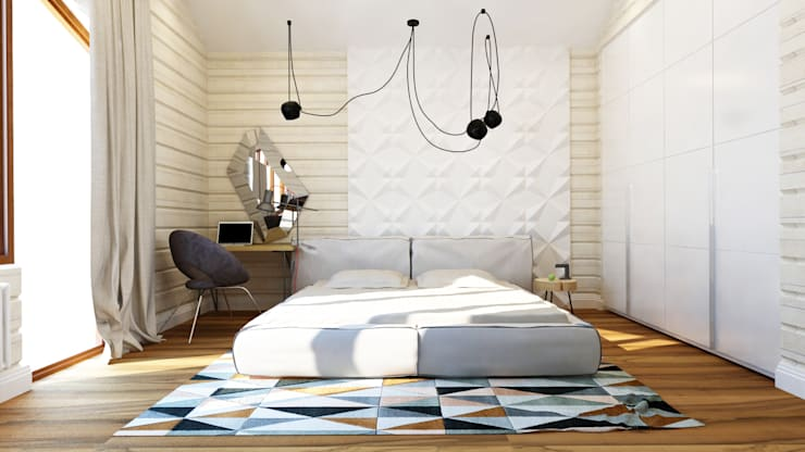 minimalistic Bedroom by Apolonov Interiors
