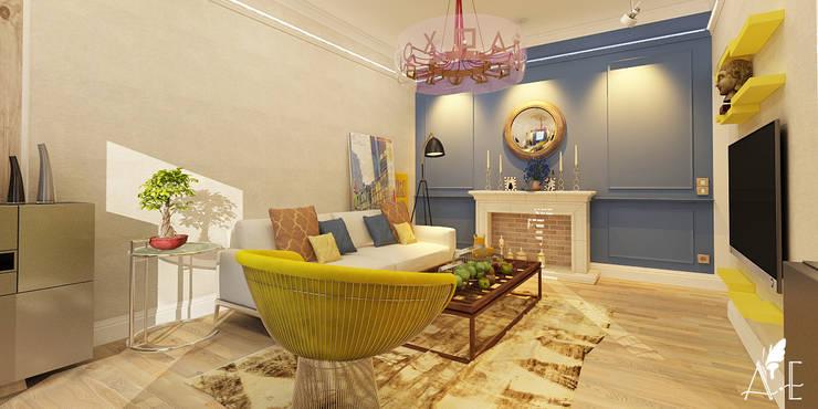 Дизайн проект квартиры г. Нижний Новгород: Гостиная в . Автор – Apolonov Interiors
