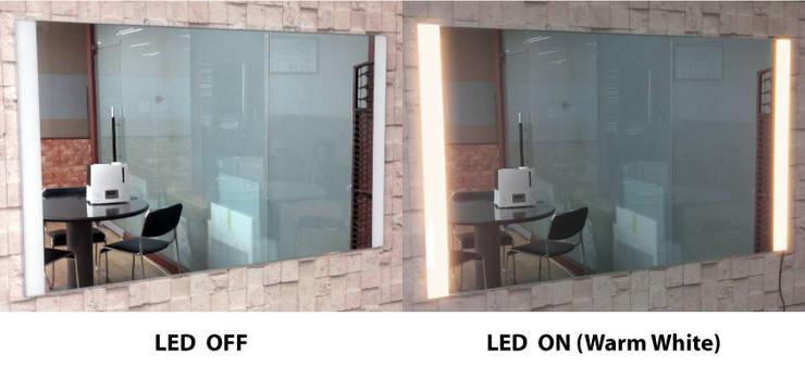 벽걸이형 2면 LED - 전구색: 주식회사 에이티옵트로닉스 (AT Optronics Corporation)의  벽 & 바닥