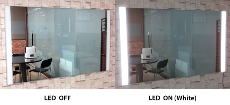 벽걸이형 2면 LED - 백색: 주식회사 에이티옵트로닉스 (AT Optronics Corporation)의  벽 & 바닥