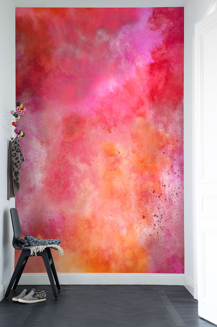 Colour Clouds, Chili:  Walls & flooring by Rebel Walls
