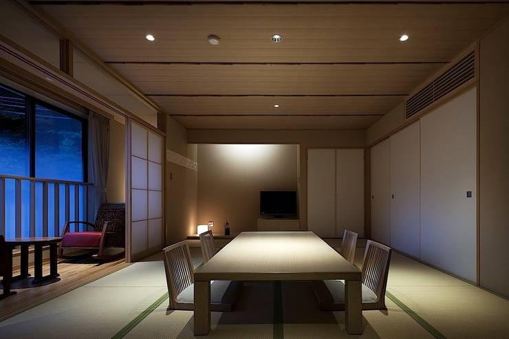 城崎温泉湯楽 Yuraku Kinosaki Spa & Gardens: 有限会社 ディー・アーキテクツが手掛けたホテルです。