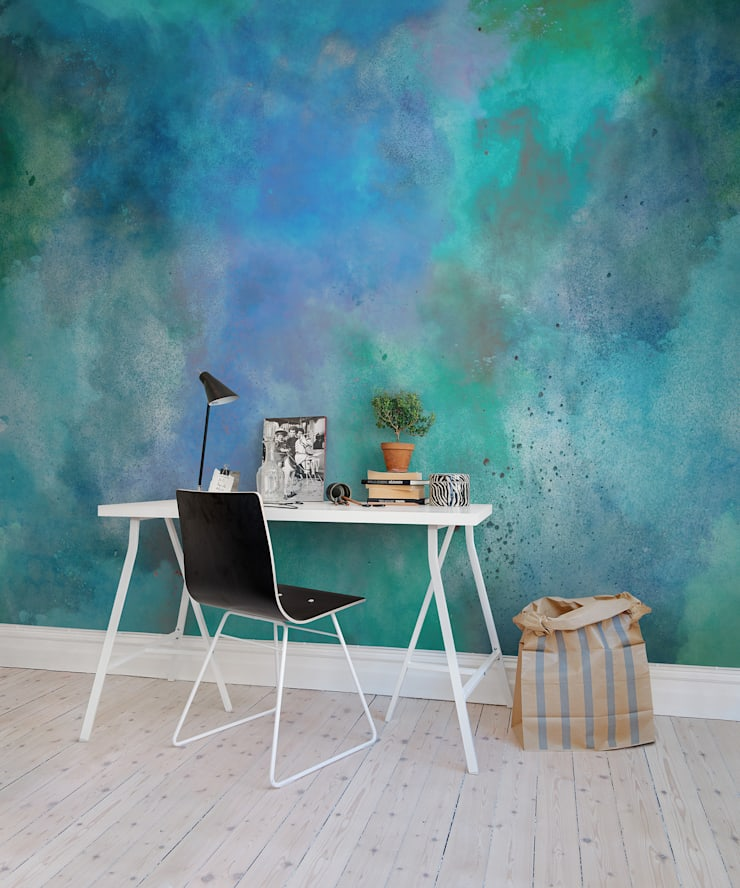 Colour Clouds:  Walls & flooring by Rebel Walls