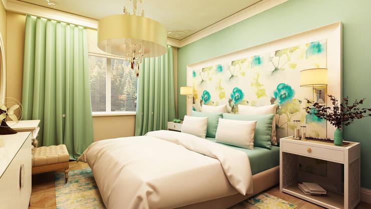 Дизайн проект квартиры г. Нижний Новгород: Спальни в . Автор – Apolonov Interiors