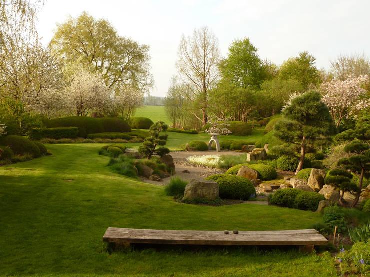 japanischer Landschaftsgarten mit Aussicht : asiatischer Garten von ROJI Japanische Gärten