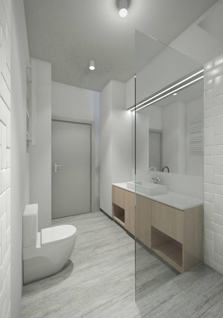 Mieszkanie w Warszawie: styl , w kategorii Łazienka zaprojektowany przez Kamińska Stańczak,