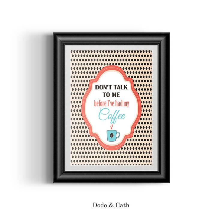 Affiche Coffee: Bureau de style  par Dodo & Cath